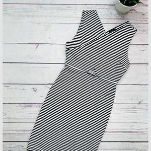 KATE SPADE SATURDAY Striped Cutout Pencil Dress S